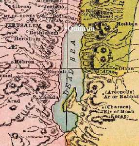 map of qumran