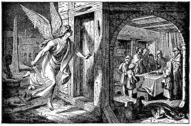 The Death Angel Passes Over an Israelite Door Marked with the Blood of a  Lamb | ClipArt ETC